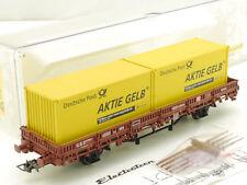 Electrotren 1528 PMS Rungenwagen Container Deutsche Post DB  OVP 1605-22-24