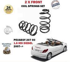 Per Peugeot 207 cc 1.6 HDI Convertible 1560cc 2007- > 2x Anteriore Bobina Molle