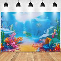 Cartoon Underwater World Photography Backdrop Photo Background Studio Prop Vinyl