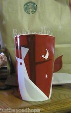 New 2012 Starbucks Coffee Red Christmas Partridge Tree Mug Cup 12 oz SKU