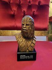 RARE Star Wars Chewbacca Revenge Sith George Lucas Award BRONZE clr Bust Statue