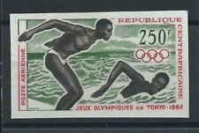 "Centrafrique PA N°25** (MNH) 1964 - J.O de Tokyo ""Natation"" - N.Dentelé"