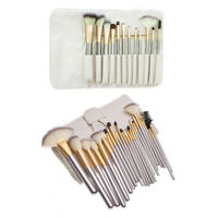 Cosmetic Makeup Brush Set Leather Make up Organizer Storage Brush Holder Case
