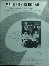 WINCHESTER CATHEDRAL SHEET MUSIC, 1966 - GEOFF STEPHEN'S NEW VAUDEVILLE BAND