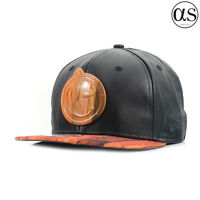 New Era 9FIFTY x Yums Smiley Face Black Leather Wood Face Snapback Cap