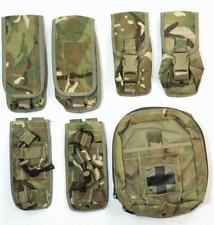 Set of 7 British army surplus MTP camo Osprey pouches