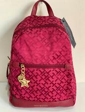NEW! TOMMY HILFIGER RED TRAVEL BACKPACK BAG PURSE $89 SALE