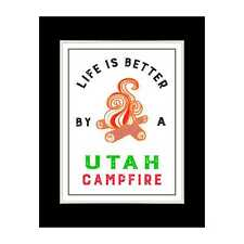Utah Campfires are the Best - Matted for 11x14 Frame
