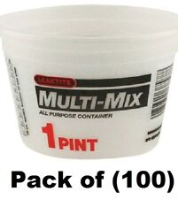 100 Leaktite 01M3500 1 Pint Multi-Mix All Purpose Empty Paint Mixing Containers