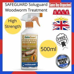 SAFEGUARD Soluguard Woodworm Treatment,High Strength Woodworm killer spray 500ml