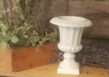 Cast Iron Metal ribbed Urn Home Garden Table Fall Wedding Candle Floral Decor