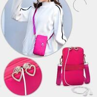 Damen Mini Cross-Body Handy Schultergurt Wallet Pouch Geldbörse Bag Tasche Z8L6