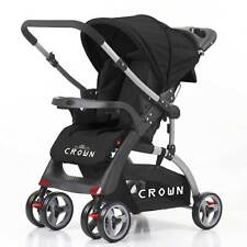 Crown Poussette Buggy Dual Way 2 Directions Mobile Voiture de Sport 6 Roue 360°