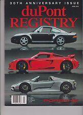 DUPONT REGISTRY MAGAZINE 2015, 30th ANNIVERSARY ISSUE, PORSCHE.