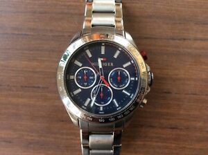 Tommy Hilfiger Mens Watch Chronograph Hudson Steel Great Condition