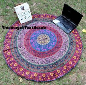 Indian Six Colors Beach Mat, Yoga Mat Cotton Center Table Cloth Handmade Mat UK