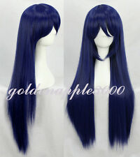 "32"" 80cm Love Live Sonoda Umi  Mixed Dark Blue Straight  Cosplay Wig Party Wigs"