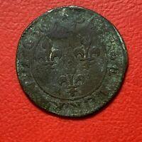 #3281 - Louis XIV Double tournois 1656 TB - FACTURE