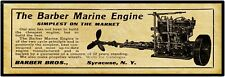 "1910 Barber Marine Engines Syracuse NY New Metal Sign: 6 x 18"" Long - Ships Free"