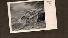 Switzerland Swiss lodge With Mt Riffter 3228mtr  1950's card unposted