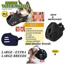XL GIANT TUFFIE Dog MUZZLE Comfort NO BITE HEAVY DUTY QUICK EasyFIT TRAINING