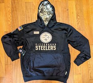 Pittsburgh Steelers 2020 Salute to Service  Performance Pullover Hoodie Large