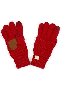 C.C 3-7 years Children Girl Boy Kids Winter Knit Warm Solid Color Gloves