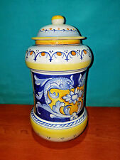 L'Antica Deruta Hand Painted Italy 35th Anniversary Limited Edition Jar 459/700