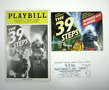 The 39 Steps Playbill 2008 Roundabout Theatre Cliff Saunders Ticket  Hitchcock