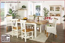 Rechteckige Esstische & Küchentische aus Massivholz mit Schubfächern für Wohnzimmer