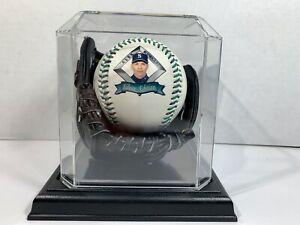 Alex Rodriguez 1995 Mariners Fotoball Baseball W/Black Mini Baseball Glove