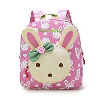 Flyingsky Rabbit Animals Kids Book Backpack Baby Girls School Bag Pink