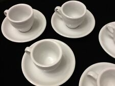 Espresso coffee cup 12 pc cup and saucer set. CH25 Cuban White Porcelain Dozen