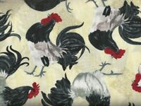 Tossed Roosters  Timeless Treasures fabric