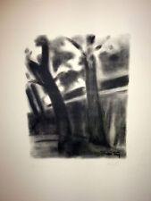 """Lithographie de FOY, """"La nuit sur les quais"""""""