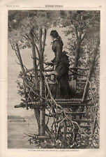 Up in the Crow's Nest  -  Look Out of a Hudson river Country Seat  -  1875