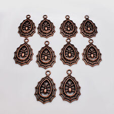 10pcs Tibetan Silver Large Spider Charm Copper Colour Pagan / Wicca / Halloween