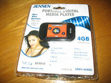 JENSEN Portable Digital Media Player, SMPV-4GBEB, sealed and new