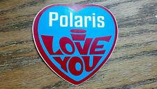 "Polaris, i Love You, Snowmobile, Sticker/Decal, 3"", RARE, VERY OLD SCHOOL"