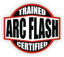 Arc Flash Trained Certified Hard Hat Decal / Helmet Sticker Electrician Lineman