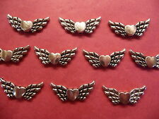 Tibetan Silver Wings of Love/Angel Wings Beads 10 per pack