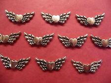 TIBETAN Silver Wings of Love / Ali D'Angelo Perline 10 per pacco