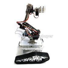 7DOF Robot Mechanical Arm Clamp Claw Mount + Tank Chassis Servo Controller Kit
