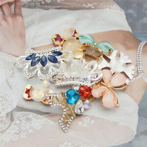 10 Assorted Enamel Bling Girl Shoe Charm Rhinestone Wristband Clog Craft 12-44mm