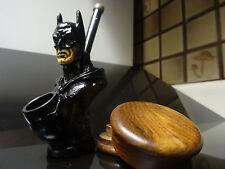 Batman w/ Wood Grinder  Tobacco Smoking Pipe  < no  glass   PM 3022 +G