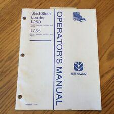 New Holland L250 L255 Skid Steer Loader Operator Manual Maintenance Guide Book