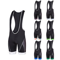 Black Cycling Bib Shorts Compression Men's Gel Padded Bicycle Bib Knicks Coolmax