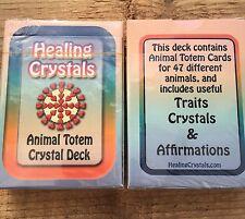 Healing Crystals 47 Animale Totem Cristallo Biglietto Ponte- Traits &