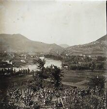 Vallée de Dourbie près Millau Aveyron Plaque de verre stéréo Vintage ca 1910