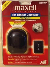 Maxell Battery for Digital Cameras~ Fits Olympus ~ DC3710CP W/Charger & Case NEW
